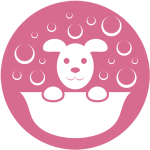 Icon of dog having a bath
